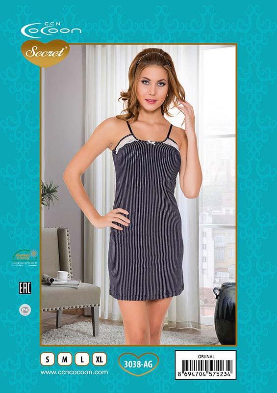 262a57b1b531 3038-AG - Сорочка женская Cocoon Secret - размер L, Интернет-магазин  Элит-Сатин, Краснодар